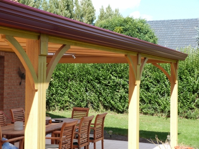Pergola bois contemporaine